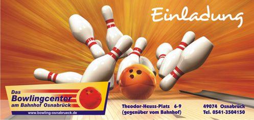 kindergeburtstage kids birthday-vegas bowling, Einladung